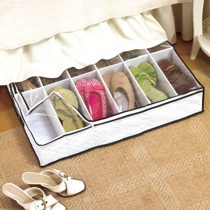 Under Bed Shoe Storage Organizer 12 Pairs Underbed New Ebay