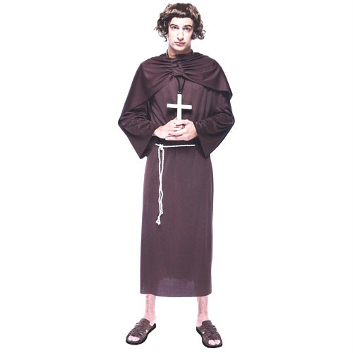 Medieval Clergy Clothing MONK Adult Mens Costum...
