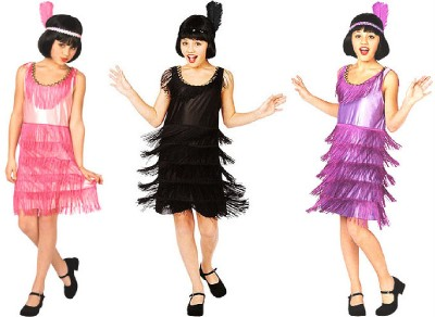 Roaring Twenties Fashion   on Flapper Girl Costume Roaring 20s Halloween Child New Purple L 10 12