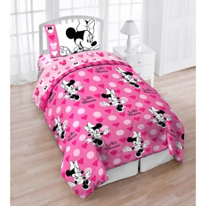 Disney Minnie Mouse Twin 4pc Bedding Set Comforter Amp Sheet