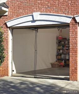 Single garage door screen in stock 7 39 x 8 39 opening keeps bugs out outdoor party ebay - Single car garage door screen ...