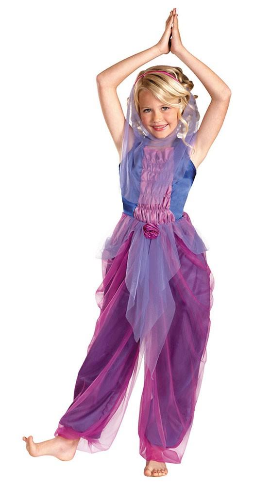 Image is loading Garden-Genie-Girl-Costume-S-4-6-Child-  sc 1 st  eBay & Garden Genie Girl Costume S 4-6 Child Kids Arabian Belly Dancer Veil ...