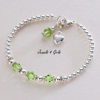 Birthstone Bracelet Sterling Silver