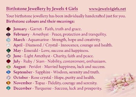 Birthstone Jewellery Information Slip