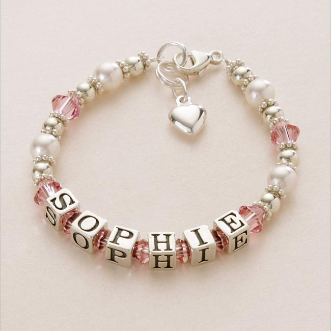 Sterling Silver Name Bracelets For S Personalised Children