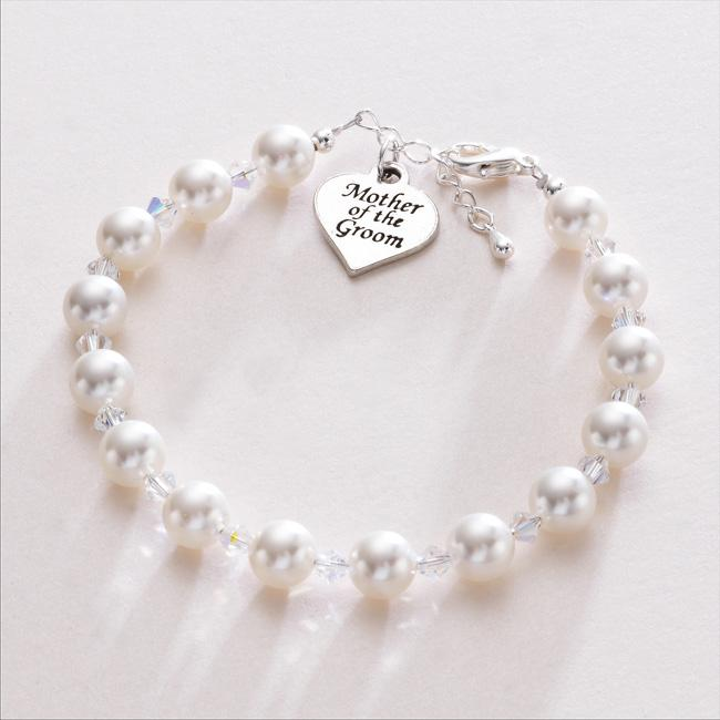 Gift-for-Mother-Of-The-Groom-Heart-Charm-Pearl-Bracelet-Wedding-Jewellery