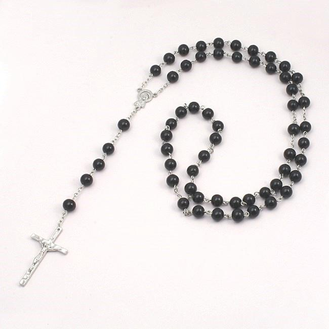 Pearl Rosary Beads Rosary Necklace Catholic Prayer Beads Gift Pouch Card