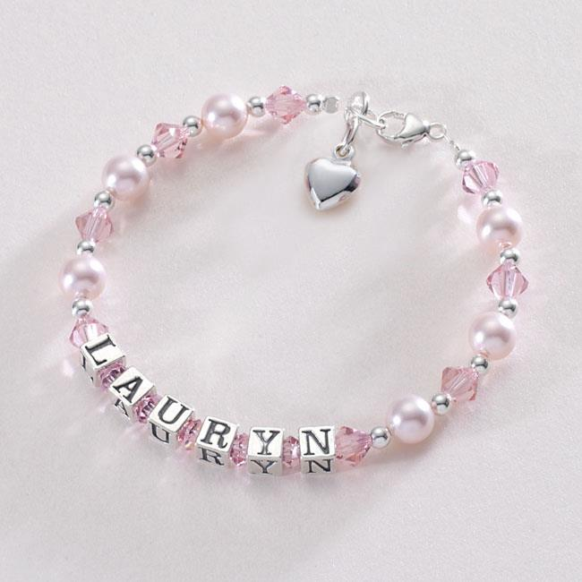Sterling Silver Name Bracelets for Girls, Personalised ...