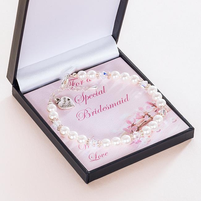 Thank you gifts for bridesmaids flower girls bracelets for Gifts to sell from home