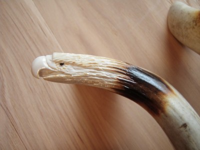 Whitetail Deer Antler Cabinet Door Handles Carved Eagle