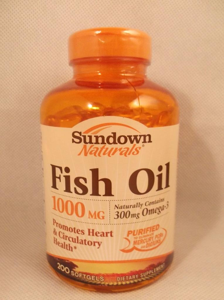 Sundown naturals fish oil 1000mg w omega 3 softgels for Fish oil 1000mg