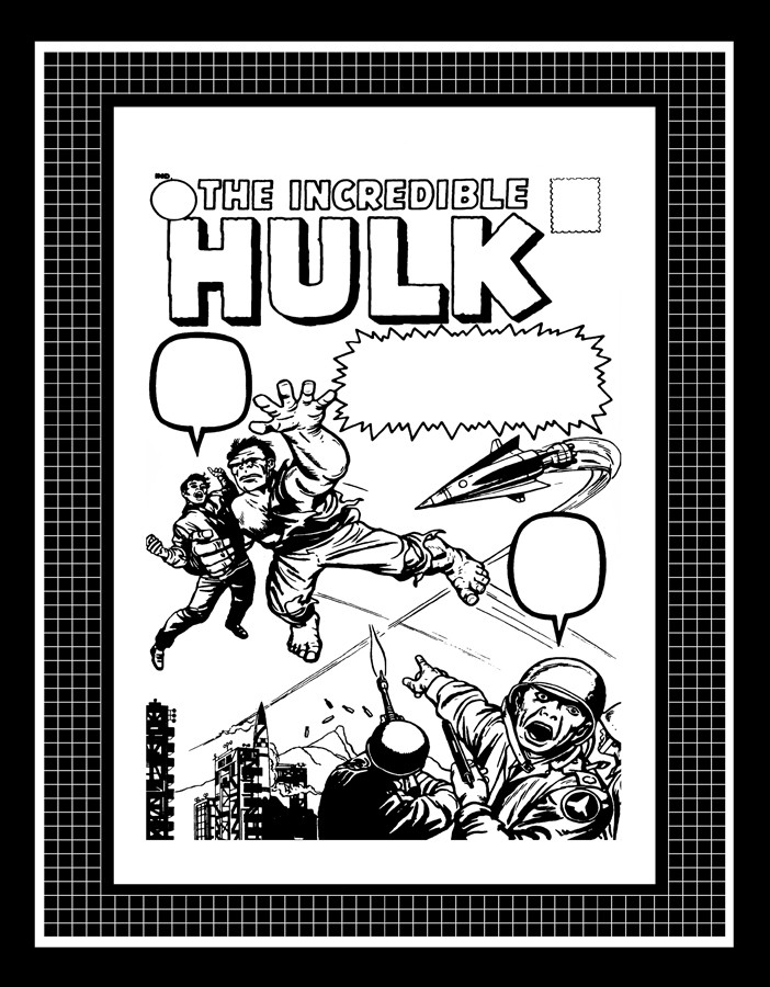 Details about Jack Kirby Incredible Hulk  3 Production Art CoverJack Kirby Cover