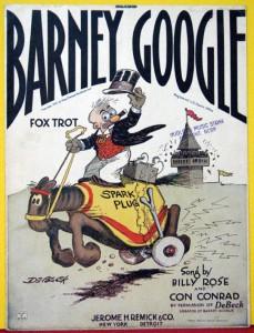 barney google billy de beck 1923 fox trot sheet music