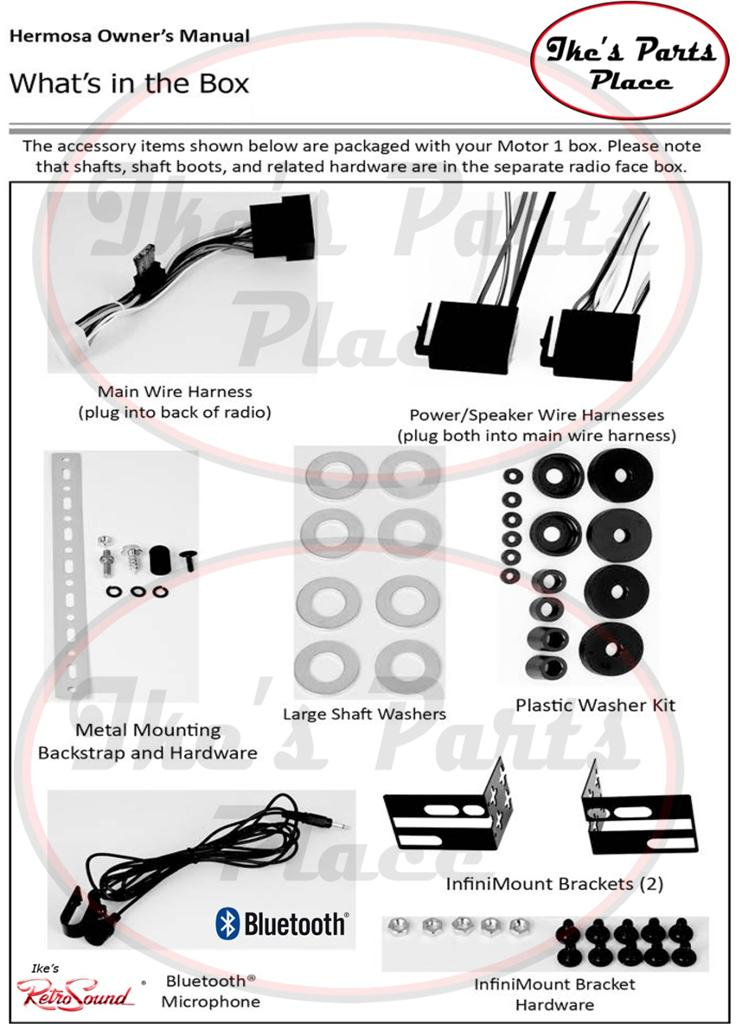 retrosound hermosa b radio bluetooth usb mp3 3 5mm aux in 4 ipod 402 rh ebay com Light Switch Wiring Diagram Schematic Circuit Diagram