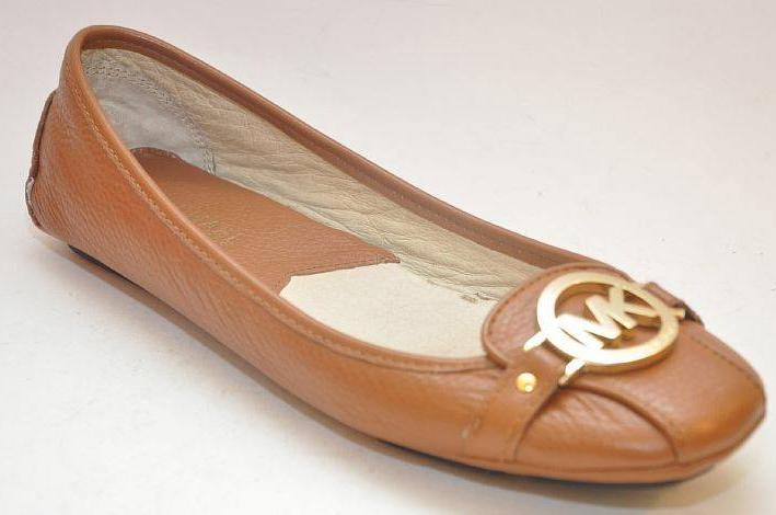 Details about NEW MICHAEL KORS Fulton Moc Luggage Brown Leather Flat