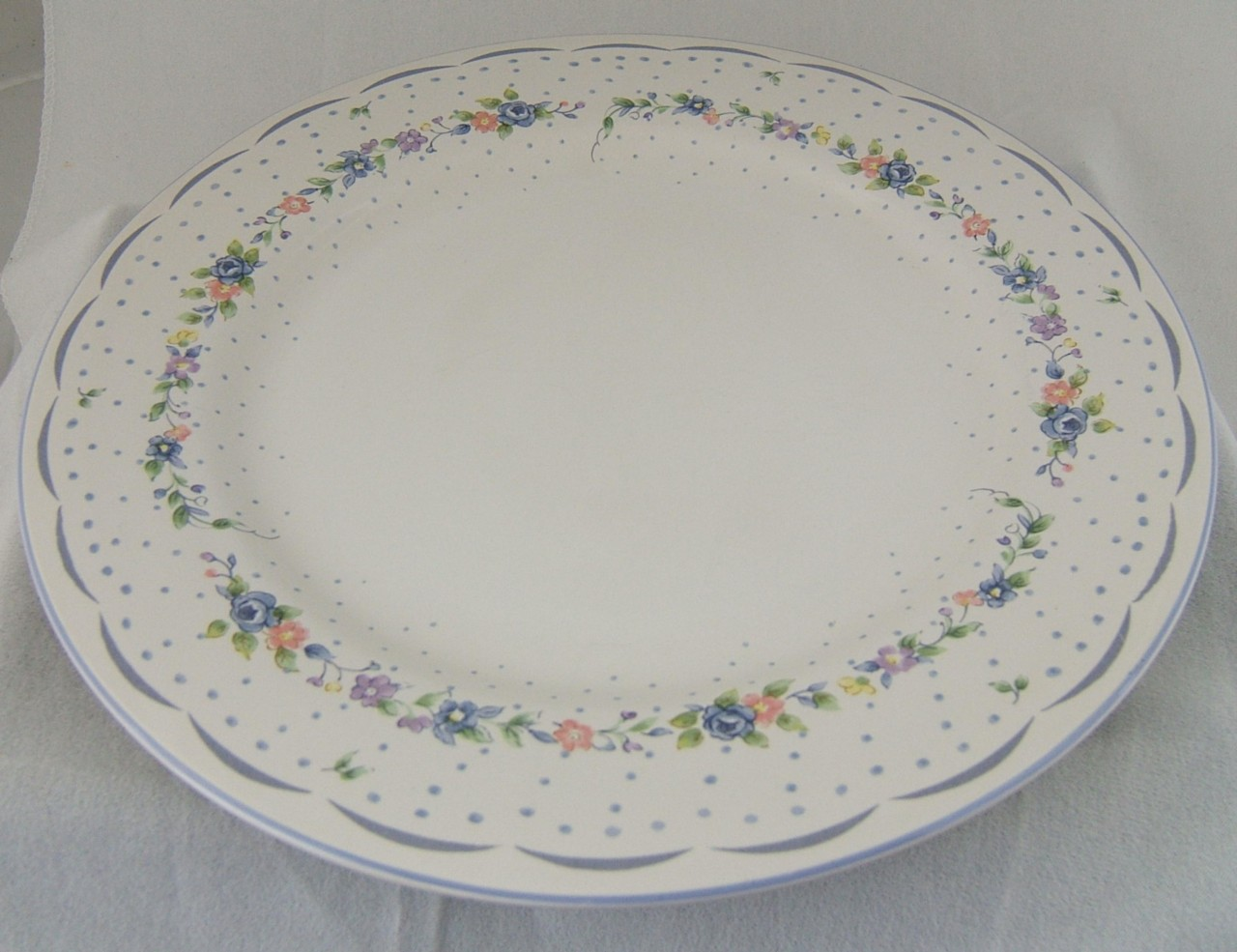 details about vitromaster provincial lace charger large plate