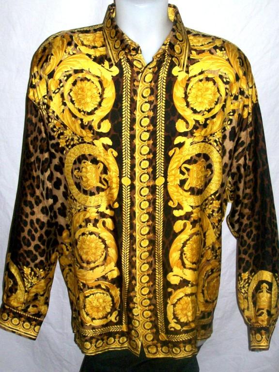 Mens Versace Silk Shirt