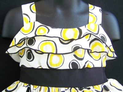 Fashions Dress Sleeveless Tiered on New Girls Lemon Drop Ruffle Tiered Dress 5 Clothes Nwt   Ebay