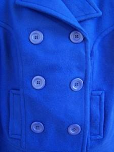 NEW Girls &amp034ROYAL BLUE PEA COAT&amp034 Size 6X Jacket Blazer