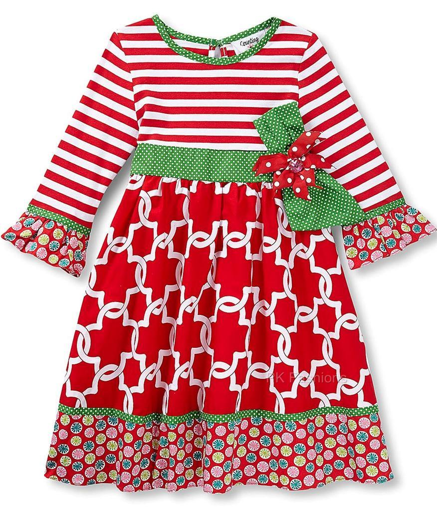 Green holiday joy quot size 7 boutique dress christmas clothes nwt ebay