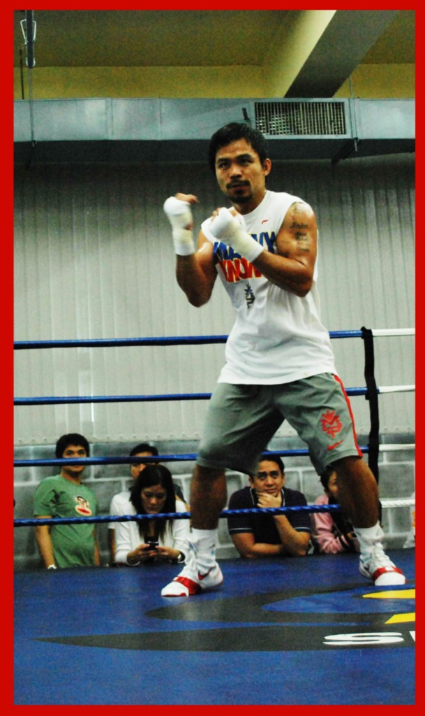 PACQUIAO ACTUAL & USED BY MANNY PACQUIAO Nike Boxing/ Fighting shoes