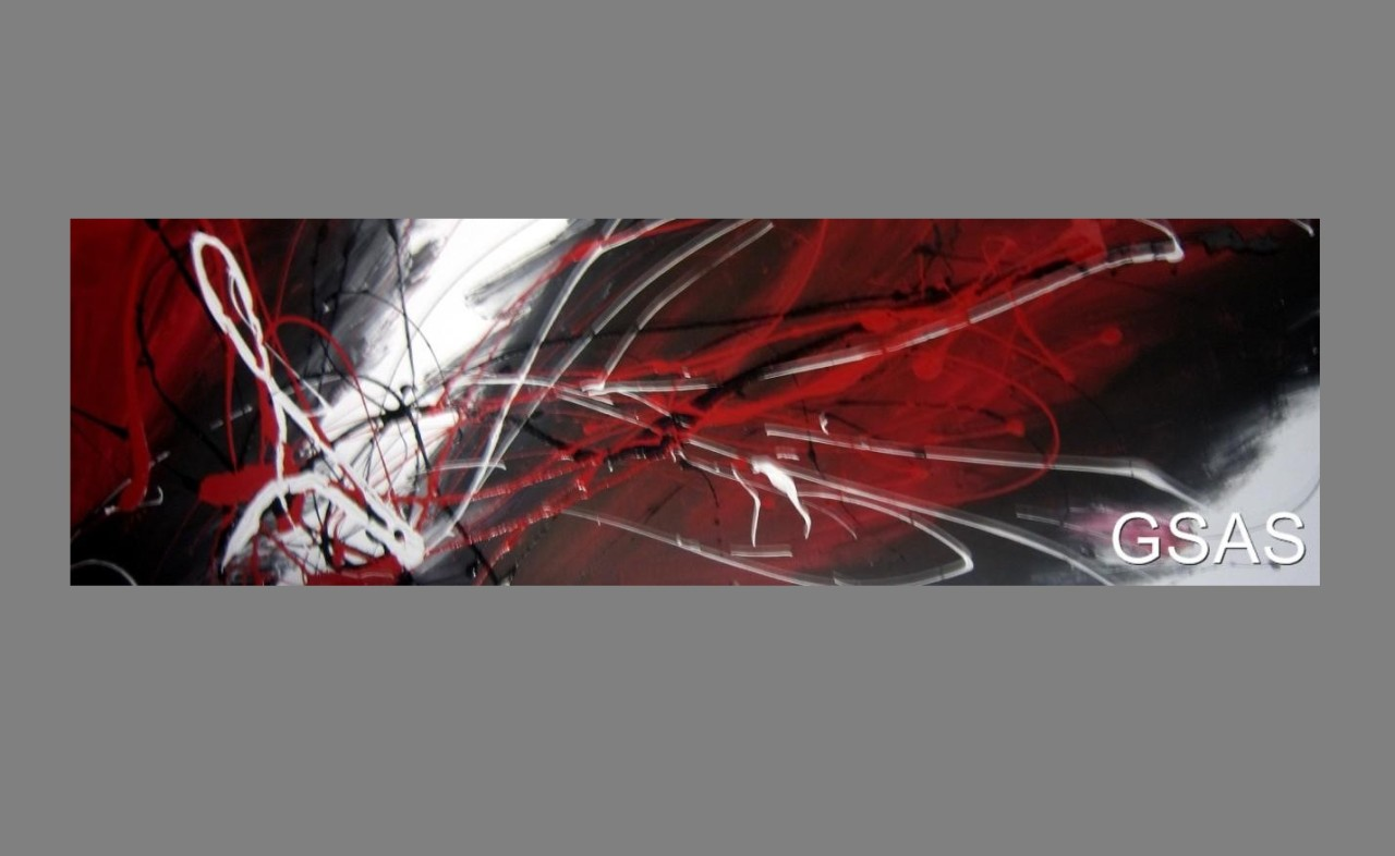 Wall Art Canvas Red : Huge abstract canvas painting wall art black white and