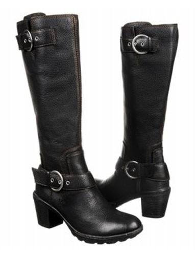 born b o c black leather boots size 7 ebay