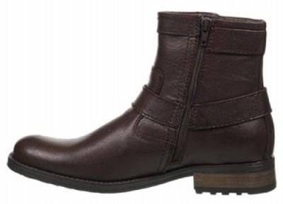 STEVE MADDEN Mens Leather Ankle Boots, Black & Brown