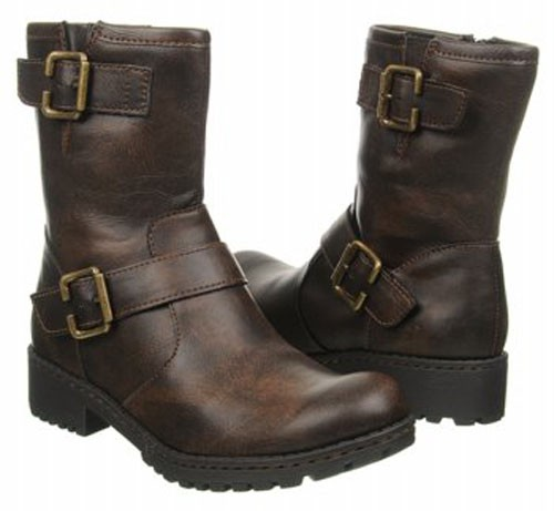 born b o c leather look ankle boots in black or brown