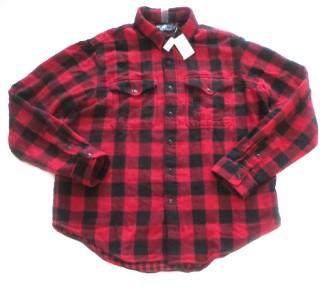 Ralph lauren polo red black buffalo check flannel shirt for Buffalo check flannel shirt jacket