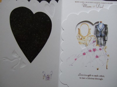 50th Wedding Anniversary Card on Mum And Dad 25th  40th  50th Wedding Anniversary Card   Ebay
