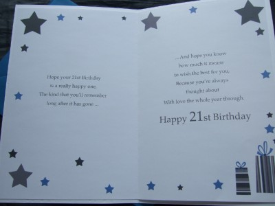Results For 21st Birthday Card Verses For Son