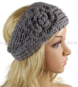 Knit Pattern Headband With Button Closure : Crochet Knit Knitted Headband Head Hair Band Ear Warmer ...