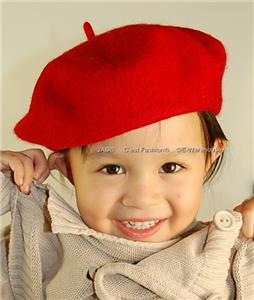 Ooh La La, the classic European Style French Beret looks sharp on both boys and girls. It is a simple, unadroaned flat cap, made from a soft non-itchy wool felt that stretches to ensure a proper and comfortable fit, without losing its shape.