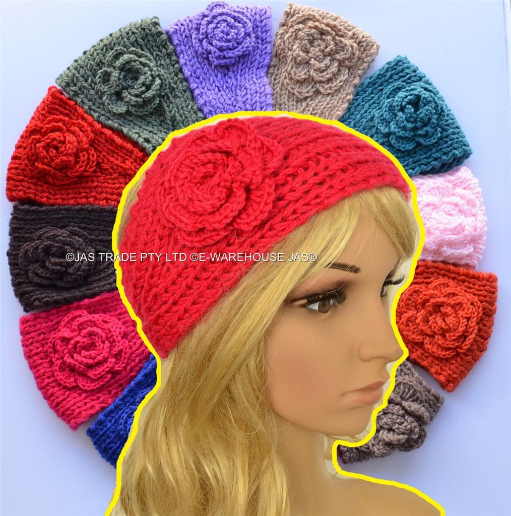 Knit Pattern Headband With Button Closure : Crochet Handcrafted Headband Hair Band Cable Knit Knitted ...