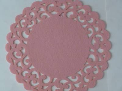 Easter Spring Placemats Felt Round W Cut Out Border Aqua