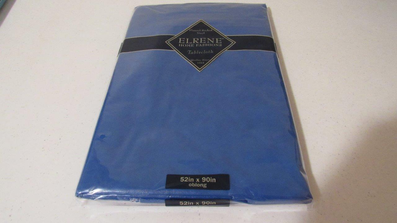 Vinyl Tablecloth 6 Solid Colors Upick 3 Size Green Aqua
