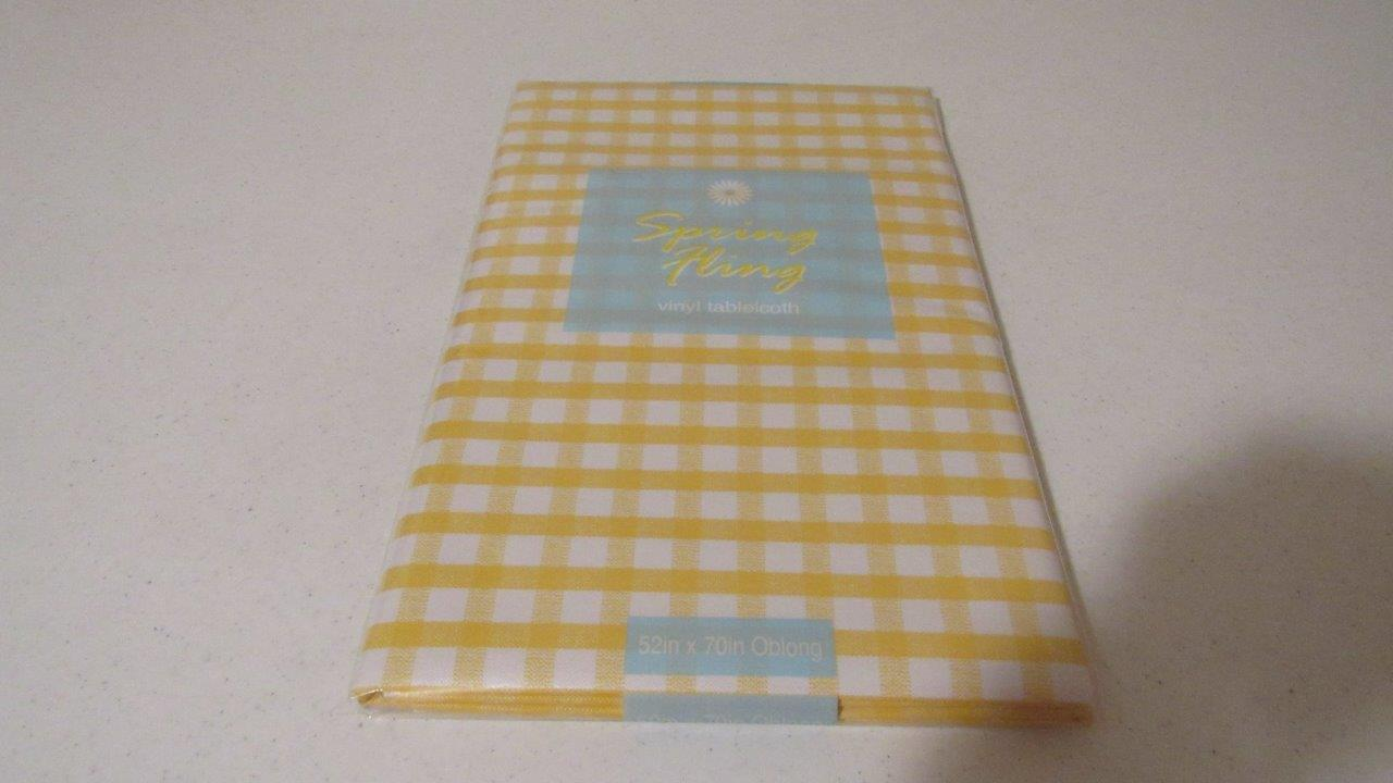 Vinyl Tablecloth Flannel Back Gingham Check Plaid 4