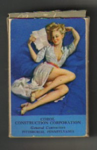 deck vintage elvgren pin up girl playing cards on PopScreen