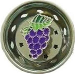 Purple grapes fruit kitchen sink strainer stopper 7355 billy joe homewares nib ebay - Decorative kitchen sink strainers ...