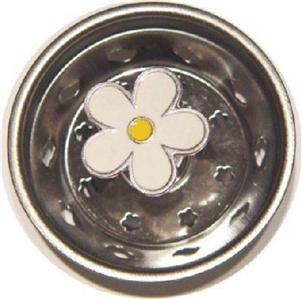 Enamel Daisy Flower Kitchen Sink Drain Strainer Stopper