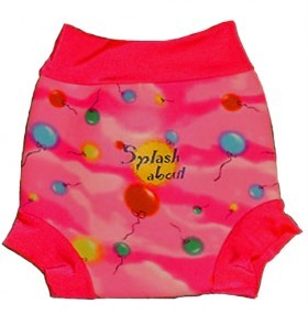 NEW-Splash-About-Swim-Swimming-HAPPY-NAPPY-Pink-Balloon