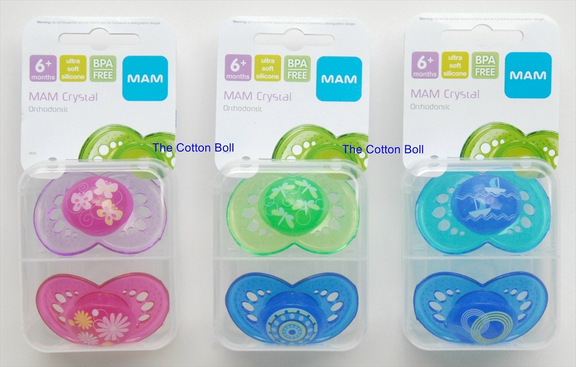 New MAM Baby Pacifiers Boy Girl 6 M Butterfly Sailboat