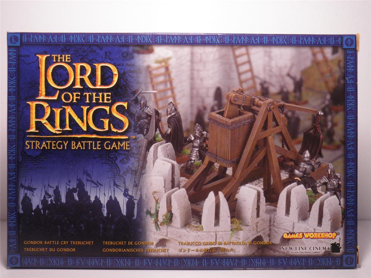 Gondor-Battle-Cry-Trebuchet-Box-Set-Mint-Metal-Model-Sealed-LOTR-The-Hobbit-OOP