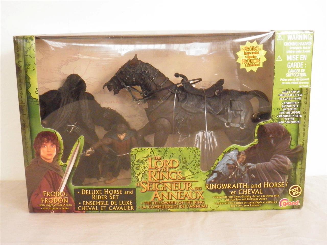 LOTR-FOTR-Ringwraith-Horse-with-bonus-Frodo-Deluxe-Box-Set-NIB-NEW-Toybiz-RARE