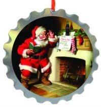 Coca-Cola-Christmas-Tree-Decoration-Bottle-Top-Santa-Fireplace-Licensed-Item