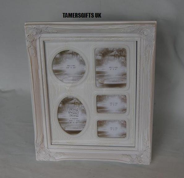 Distressed Off White Cream Collage-Picture Photo Frames 4 x 6\