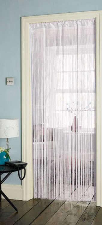 Curtains Ideas art deco curtains : ART DECO WHITE BLACK CREAM BROWN STRING DOOR CURTAIN 90 X 200CM ...