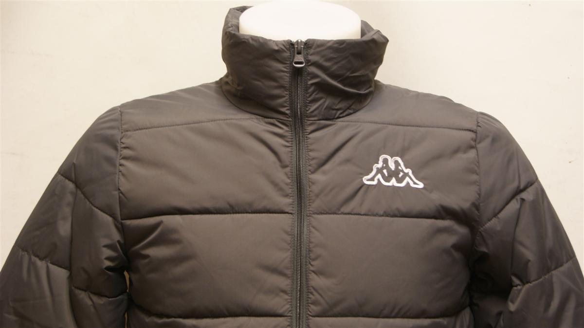 Boys junior kappa grey warm quilted winter jacket padded coat rrp 163 30