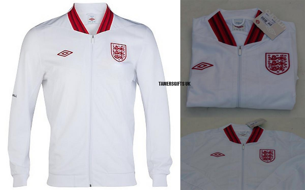 BNWT-Umbro-England-White-Red-Unsponsored-Football-Jacket-Mens-RRP-49-99